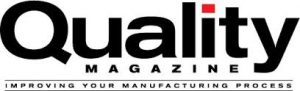 Quality Magazine Improving Your Manufacturing Proces black letters on white background