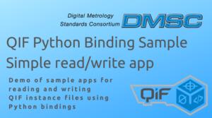 DMSC QIF Phthon Binding Sample Simple read/write app